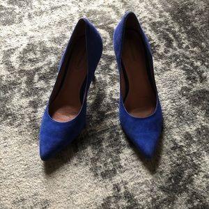 Corso Como Cobalt Blue Suede Heels